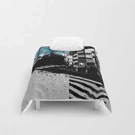 CMYK Triptych - Cyan Comforters