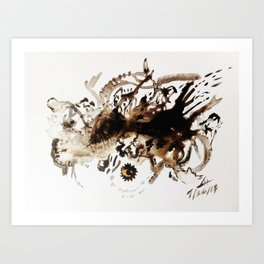 tea massacre  Art Print