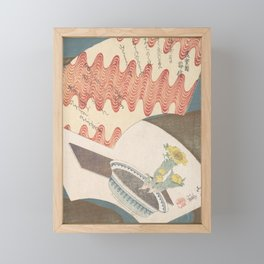 Conventionalized Design of Fans Floating on the River Framed Mini Art Print