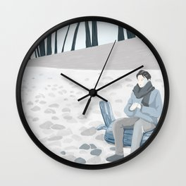 A Cold Winter Wall Clock