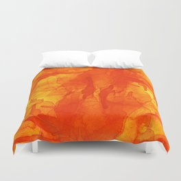 Microcosmos Rojo Duvet Cover