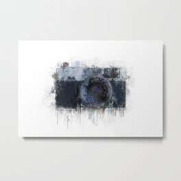 retro camera drawing - illustration / painting 1 Metal Print