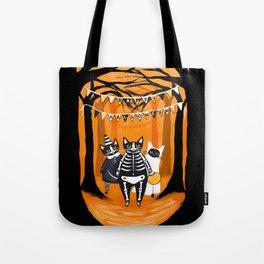 Happy Halloween Cats Tote Bag