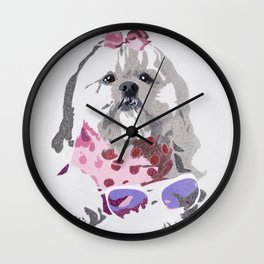 Beausy Bear Pink Wall Clock