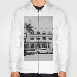 Miami Beach USA Ocean Drive Black&White | Fine Art Travel Photography Hoody