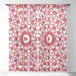 Rose Petal Love Hearts Mandala Sheer Curtain