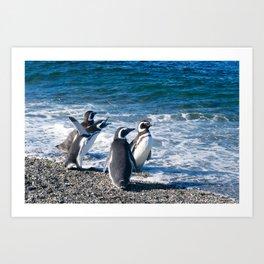 Penguin clique Art Print