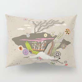 Flora Crane Pillow Sham