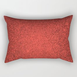 Andesine Red Sparkling Jewels Pattern Rectangular Pillow