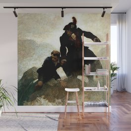 """""""Kidnapped"""" Painting by NC Wyeth Wall Mural"""