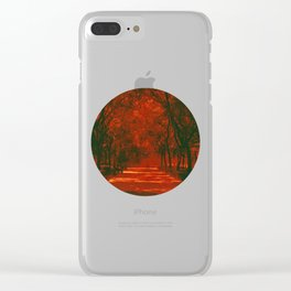 Red afternoon Clear iPhone Case