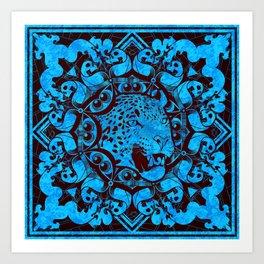 Radial Totem - Jaguar Art Print