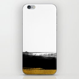 Black and Gold grunge stripes on clear white background - Stripe - Striped iPhone Skin