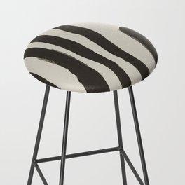 Painted Zebra Bar Stool