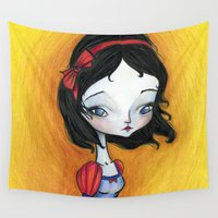 snow white Wall Tapestries featuring Snow White by solocosmo