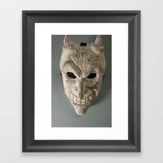 celtic demon Framed Art Print