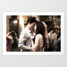 Edward and Bella from Twilight - Painting Style Art Print
