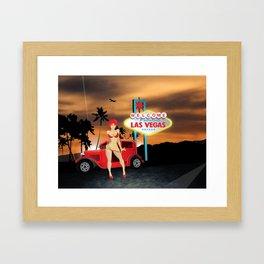 Vegas Hotrod Framed Art Print