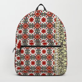 V12 Red Traditional Moroccan Rug Pattern. Backpack