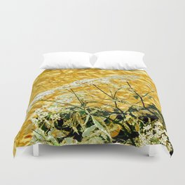GOLDEN LACE FLOWERS FROM SOCIETY6 BY SHARLESART. Duvet Cover