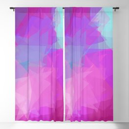 Triangle Pattern Eccentric Mind, Purple Pink Design Blackout Curtain