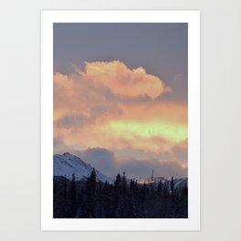 Serenity Rose Mt Sunrise Art Print