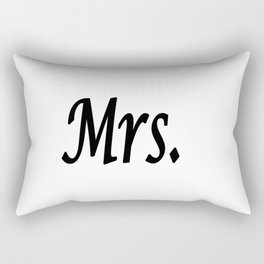Mrs. Rectangular Pillow