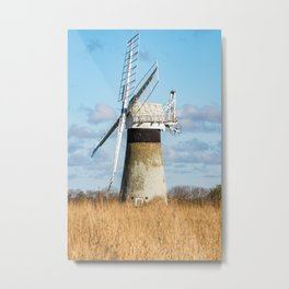 St Benets Drainage Mill, Norfolk Broads Metal Print