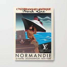 Normandie x LV Metal Print