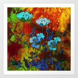 Hello blue poppies! Art Print