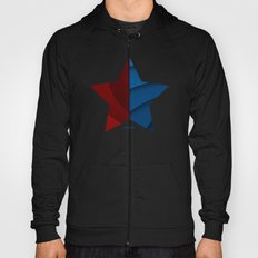 Red and blue color gradient Hoody