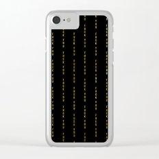 F@#K YOU Pinstripe Clear iPhone Case