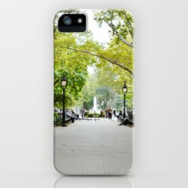 Morning Stroll in the Village iPhone Case