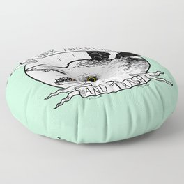 ADVENTURE AND TRASH Floor Pillow