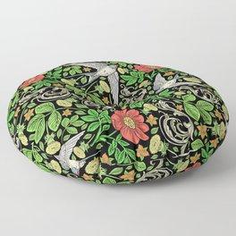 Dandelions and Swifts Floor Pillow