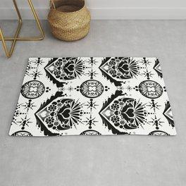 black pattern 8 Rug
