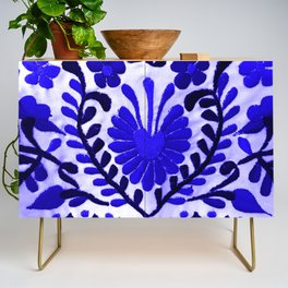 Beautiful Midnight Blue Mexican Flower Credenza
