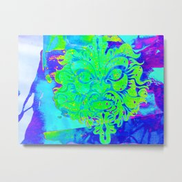 Blue Green Man Metal Print