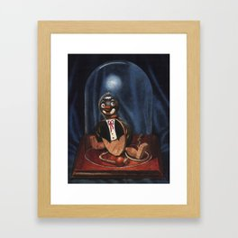 Penguin Under Glass Framed Art Print