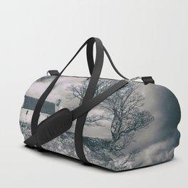 Highland Cottage, monochrome. Duffle Bag