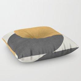 Halfmoon Colorblock - Gold Charcoal Floor Pillow