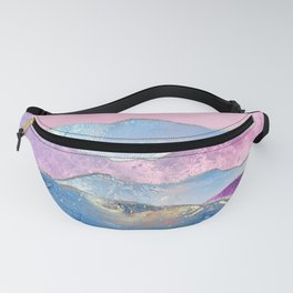 Abstract Mountain Landscape  Digital Art Fanny Pack