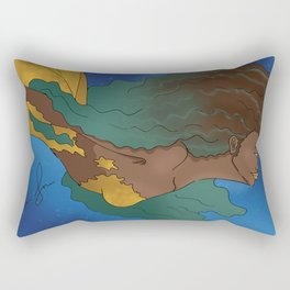 GOLD MERMAID Rectangular Pillow