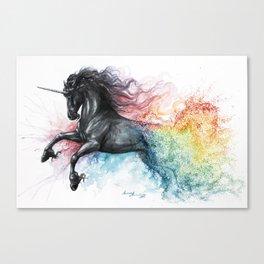 Unicorn dissolving Canvas Print