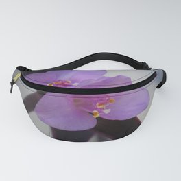 Purple Succulent Flowers Fanny Pack