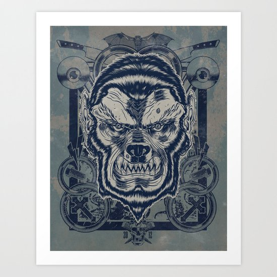 Classic Monsters Series: Wolfy Art Print