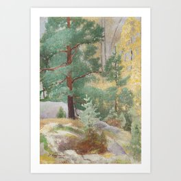 PEKKA HALONEN, AUTUMN LANDSCAPE. Art Print