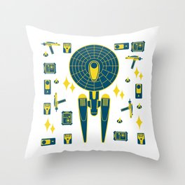 Enterprise&Phaser&PADD Throw Pillow