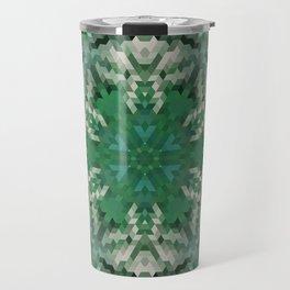 Green mandala  2 Travel Mug
