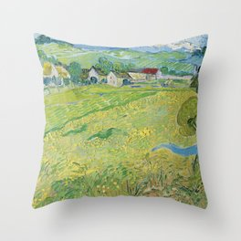 Vincent Van Gogh View Of Vessenots Near Auvers Throw Pillow